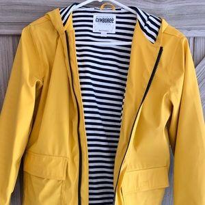 Kids Gymboree rain jacket in yellow.